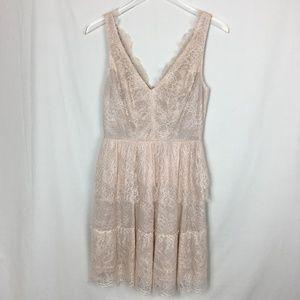BCBGMAXAZRIA Blush Lace Cocktail Dress